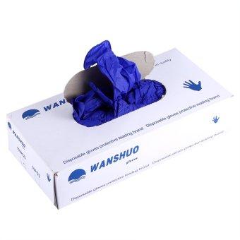 100pcs/kotak 50Pairs sekali pakai sarung tangan Powder Free Non lateks rumah dapur Cleaning makanan Universal S - intl - 3