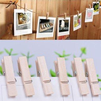 ... 100x 25MM Mini Natural Wooden Clothe Po Paper Peg Clothespin CraftsClips intl 5