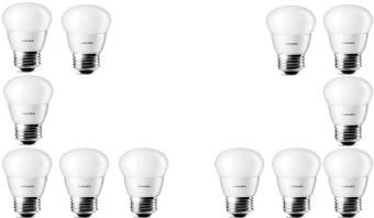 harga 12pcs Lampu Bohlam LED Philips 4w/watt - 40watt Putih Lazada.co.id