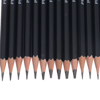 14 Buah Seni Sketsa Gambar Grafit Pensil 12B 10B 8B 7B 6B 5B 4B 3B 2B 1B HB 2 Jam - 4
