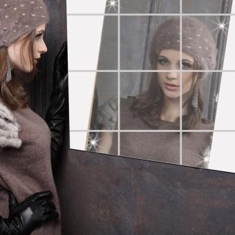 16pcs Decorative Mirrors Self-adhesive Tiles Mirror Wall Stickers - intl - 2