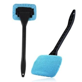 1PC Light Blue Car Window Brush Glass Cleaner Wiper Scraper BrushCleaning Tool - intl - 2