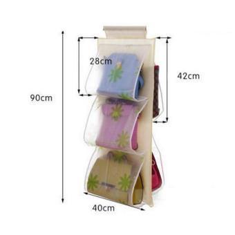 2 buah 5 saku tas transparan tas penyimpanan lemari gantung rakorganizer - International .