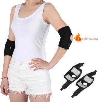 2 pcs/set Self-heating Tourmaline Elbow Support Brace Pad Health Care Arthritis Protector