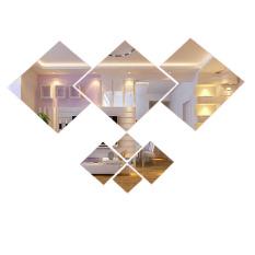Diseduh Sendiri 3D Bulu Bulu Cermin Dinding Vinil Stiker Seni Dekorasi Rumah Lukisan Dinding. Source