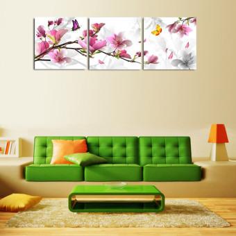 harga 30 cm x 30 cm tanpa bingkai 3 buah bunga lukisan cat minyak di atas kanvas cetak lukisan rumah seni dekoratif- intl Lazada.co.id