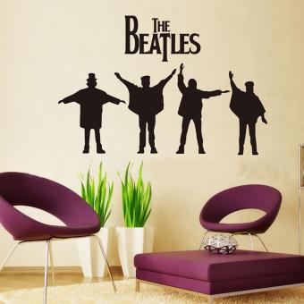 360DSC Stiker dinding kamar tamu latar belakang The Beatles Latar Belakang Dekorasi Dinding (103 cm X 46 cm)
