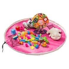 39 Inch/100 Cm Mainan Storage Bag Organizer (Bright Pink)