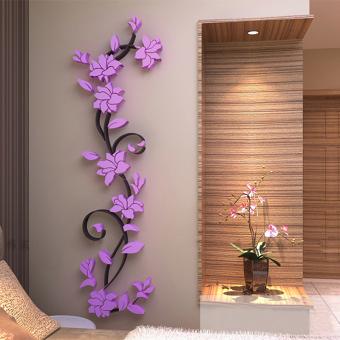 Sketsa Bunga Lukisan Bunga Di Dinding Kamar
