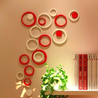 3D Wall Sticker - Model BULAT bahan kayu ringan
