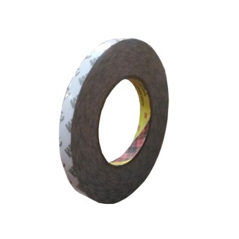 3M 9075i / 7385C Double Coated Tissue Tape - 12 mm x 50 m - 1 Buah