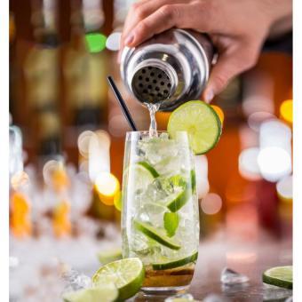 ... 5 buah Set Stainless Steel Bar Shaker koktail Bar minuman Mixer Kit Set alat pesta Bar ...