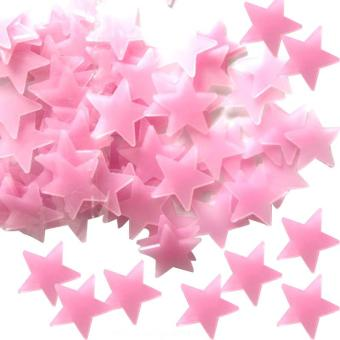 500 Pcs Glow Color Stars Luminous Fluorescent Wall Stickers forKids color:Red - intl