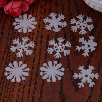 ... 50pcs Snow Fluorescent Patch Furnishings Luminous Wall Stickers(White) - intl - 5