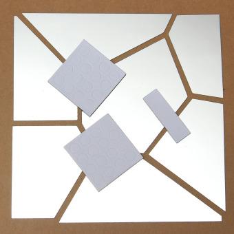 9 set diseduh sendiri 3D akrilik Modern cermin stiker seni dekorasirumah stiker dinding .