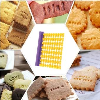 Abjad Huruf Numbler Cookie Biskuit Embosser Fondant Cetakan KuePemotong Stempel Warna - Intl - 3