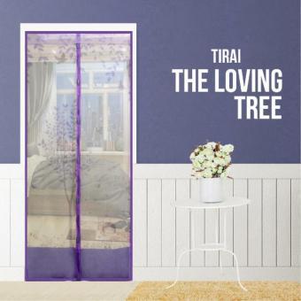 harga AIUEO Magic Mesh Tirai Magnet Anti Nyamuk Motif The Loving Tree - Tirai Pintu Magnet - Ungu Lazada.co.id