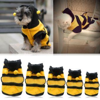 Anak anjing kucing Pet Bee Baju Kostum jaket mantel burung gagak kelabu pakaian 5 ukuran 14 - 4