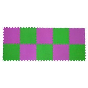... Ari Jaya Karpet Puzzle Polos (Hijau Pink) - 4 ...