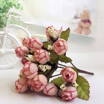 Artificial Flower Rose Bouquet Home Hotel Room Wedding Party GardenDecoration - intl -