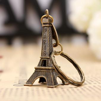Autoleader nada perunggu patung miniatur menara Eiffel Paris Model Vintage dekorasi 5 cm - 4