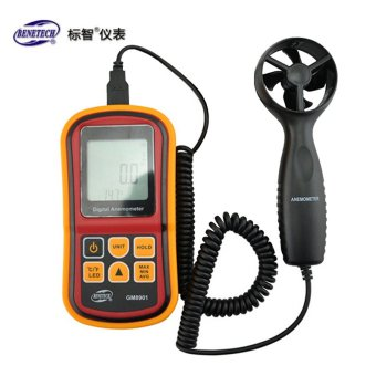 BENETECH GM8901 0 ~ 45 m/S Akurasi Tinggi Anemometro LCD Display Digital Anemometer Wind