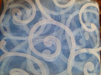 ... Berkelompok Panel Tipis Tirai Jendela Balkon Kain Tule Pembagi 100cm x 200 cm (Biru) ...