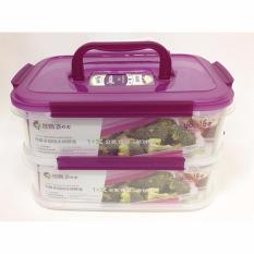 BEST Yooyee Rantang Makan Lunch Box 2 TINGKAT Bento #449 Kotak Bekal - UNGU