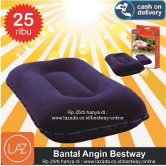 Bestway Bantal Angin Biru / Bantal Kepala / Bantal Leher / Travel Pillow / Bantal Tiup / Bantal Camping / Bantal Travel