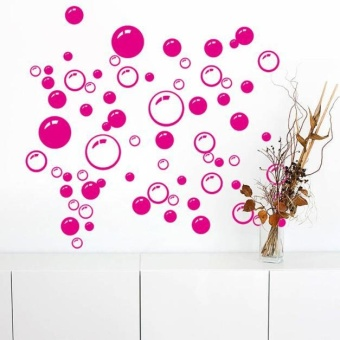 Bubbles Circle Removable Wall Wallpaper Bathroom Window Sticker Decal Home DIY - intl