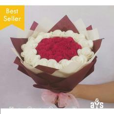 Buket Bunga Flanel Kado Valentine/Anniversary/Wisuda/Ulang Tahun
