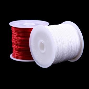 BUYINCOINS 1 gulungan 45 m tali nilon benang simpul cina Macramegelang tali kepang 0,8mm_multicolor - Internasional - 3