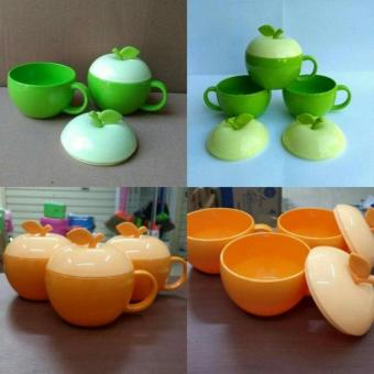 Cangkir Apple 3pcs / Gelas apple / cangkir model apel / gelas model apel / Mug Apel - Random Color