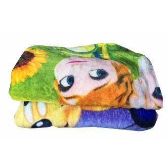 Cendra Selimut Bulu Lembut Karakter Anak Perempuan - Multicolor uk 150x200