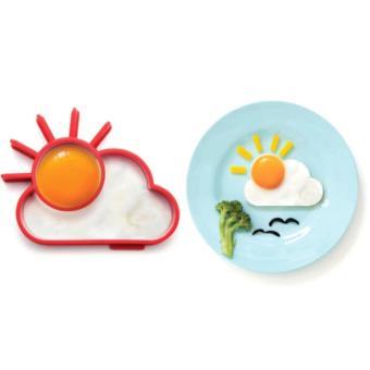 Cetakan Telur Bento Bahan Silikon Matahari Dan Awan - Cetakan Telur Cetakan Omlet Cetakan Omelette Cetakan Bento Cetakan Bekal Sekolah Anak Cetakan Serbaguna - 3