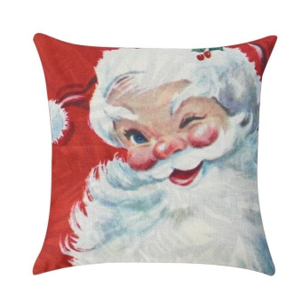 Christmas Cotton Linen Throw Pillow Case Cushion Cover Home Decor Xmas Gift(Red) - intl