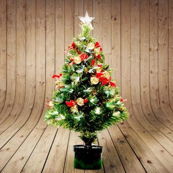 Christmas Tree / Dekorasi Natal / Pohon Natal FREE LAMPU T 502-90 Diameter 90 Meter