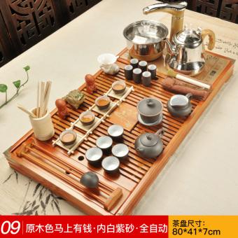 Cishen ungu otomatis Empat kayu teh nampan teh