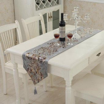 Classic Modern Cotton Linen Table Table Runner color:#4size:33*180cm - intl ...