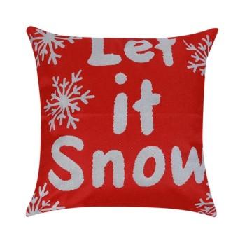 Cotton Linen Christmas Xmas Sofa Waist Cushion Cover Car Pillow Case Cover( Red) - intl ...