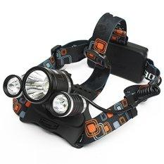 CREE Lampu Senter Kepala 5000 Lumen XM-L 3 X T6 LED Lampu Depan Cahaya Obor