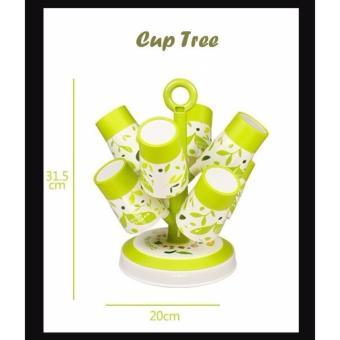 Cup Tree Isi 8 Gelas + 1 Holder Set Gelas Berbentuk Pohon - 4