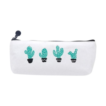 Cute Cactus Pencil Pen Case Cosmetic Makeup Bag Storage Pouch ( style:2 ) - intl