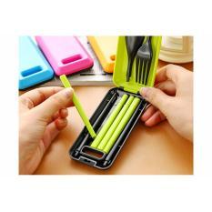 Cutlery Set Alat Makan Portable Sendok Sumpit Garpu Korean Style Travel - Set Perlengkapan Peralatan Makan Lipat Portable - MixColour