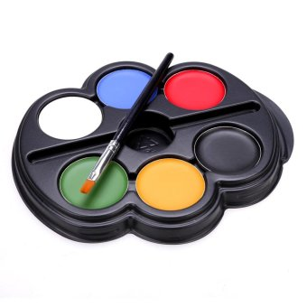 Cyber Face Body Paint Makeup Painting Arts Kit Halloween 6 Colors(Type 1) - intl