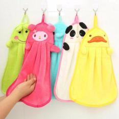 DapurBunda Kain Lap Tangan Gantung Microfeber Karakter Lucu Murah / Hand Towel Handuk Kecil - PUTIH