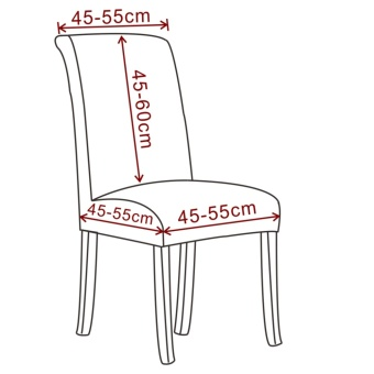 Dining Chair Slipcovers Removable Universal Stretch ChairProtective Covers for Dining Room, Hotel, Banquet, Ceremony - intl - 3