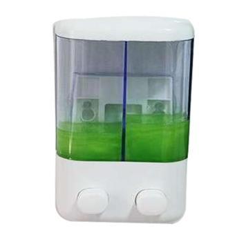 Dispenser Sabun 2 Tabung T02 tempat shampoo & sabun mandi Putih