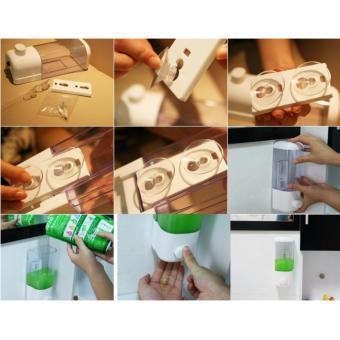 Dispenser Single Tempat Sabun Cair 1 Tabung Tempat Sabun CairShampo Single Soap Dispenser Tempel Dinding Gantung Wadah SabunCair Wadah Sabun Mandi Aksesoris Perlengkapan Kamar Mandi - 3