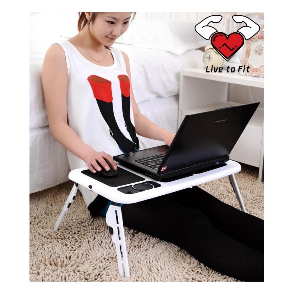 Meilyngiftshop Portable Laptop Desk Table Meja Lipat Lihat Aimons Kipas Car E Ada Pendingin Cooling Pad Fan Cooler Universal